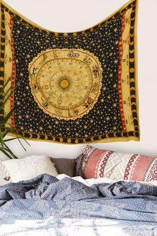 horoscope mandala tapestry