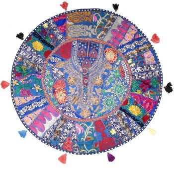 bohemian round floor pillow