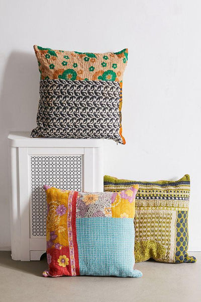 What's deal with Adorable Vintage Kantha Quilts - Kantha Cushion Covers from Jaipur Handloom