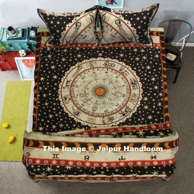 Horoscope duvet cover set 4-pc-doona-cover-set-with-bedspread-indian-astrology-duvet-quilt-cover-blanket-jaipur-handloom_1024x1024