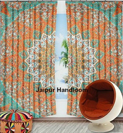 window 2 panel curtains | Jaipur Handloom