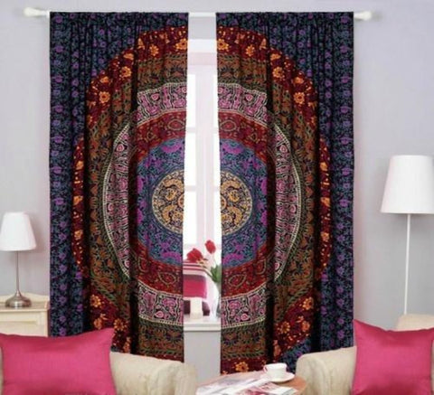 mandala window hanging curtain