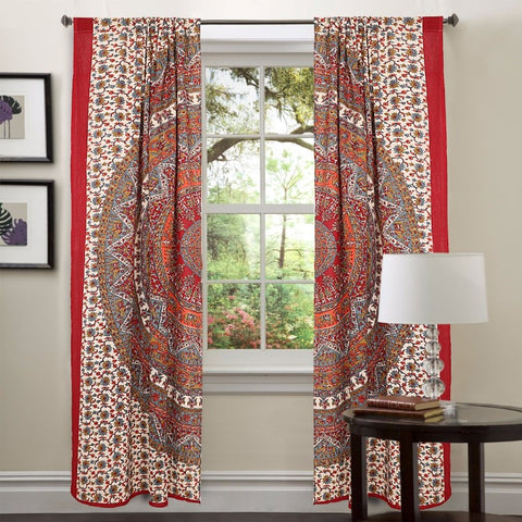mandala curtains drapes