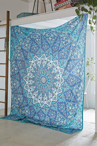 Blue Star Mandala Wall hanging by Jaipur Handloom