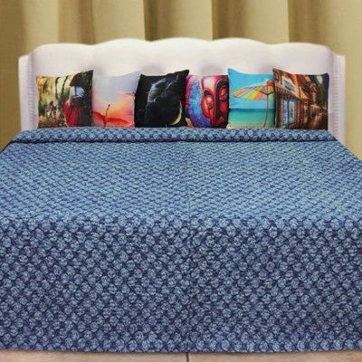 Bohemian Bedding and boho chic decor ideas - jaipur handloom - Indigo Kantha quilt