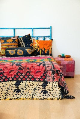 Bohemian Bedding and boho chic decor ideas - jaipur handloom - Vintage kantha Bedding