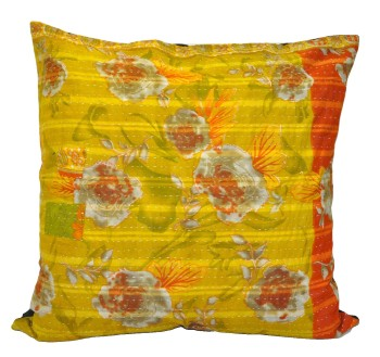 floral kantha throw pillows