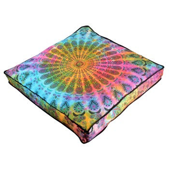 tie dye mandala floor cushion by  Jaipur Handloom