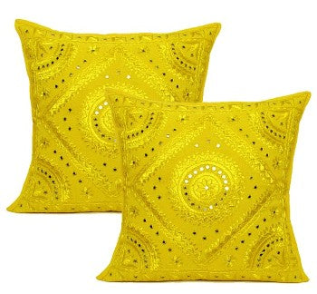 indian embroidered throw pillows
