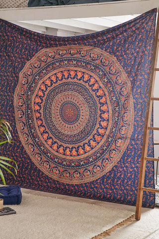 Elephant Medallion Tapestry by Jaipur Handloom