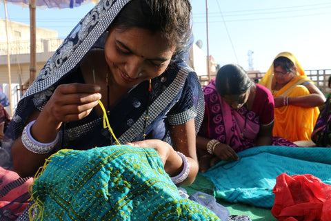 Buy Fair Trade Vintage kantha quilts wholesale at Jaipur Handloom