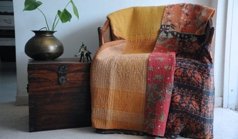 Reasons to Get Addicted to Kantha Quilts - Jaipur Handloom Manufacturer of Kantha Quilts, Throws & Blankets