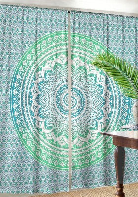 Curtains for Dorm room Decor- Green Ombre Curtains for college