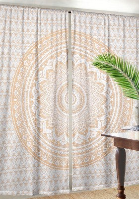 Gold Curtains for Dorm room Decor - Gold ombre Tapestry Curtains