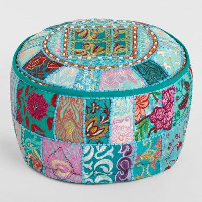 Bohemian Pouf for extra seating in dorm room