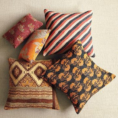 Kantha Pillow Covers for dorm room