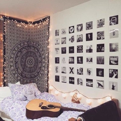 Twin Mandala Tapestry -College Checklist, Dorm Room Ideas & Essentials