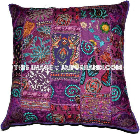 bohemian patchwork throw pillow | Jaipur Handloom