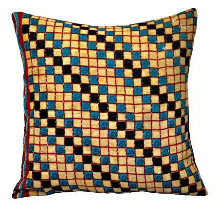 indian kantha throw pillows