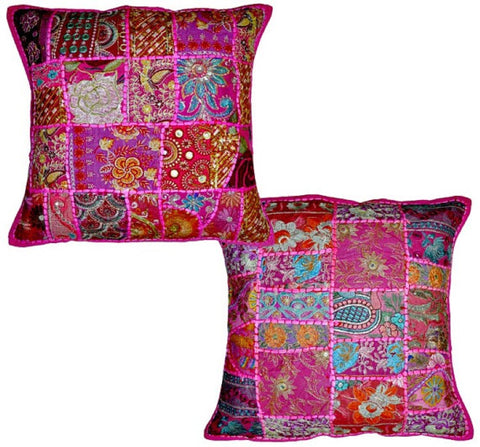 indian patchwork pillows