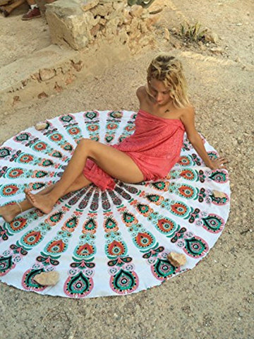 Round Beach Throw - Jaipurhandloom.com