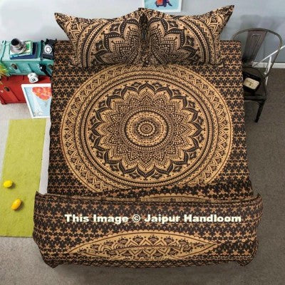 gold ombre mandala duvet cover indian-ombre-mandala-bedspread-queen-duvet-doona-quilt-cover-blanket-4-pc-set-jaipur-handloom_1024x1024