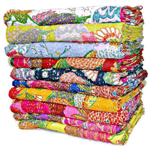 wholesale kantha throw in queen size