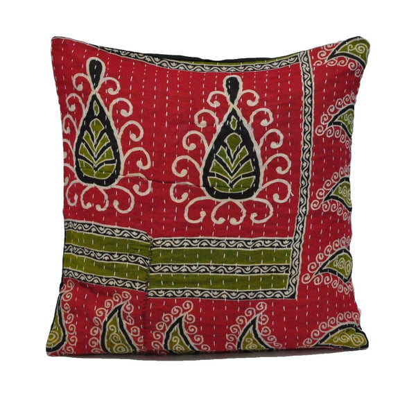 "16"" Decorative Kantha Throw pillows for couch kantha outdoor cushions - NS29-Jaipur Handloom"