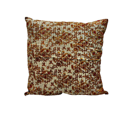 "24"" indian sari kantha throw pillows for couch bohemian patio cushions NL28-Jaipur Handloom"