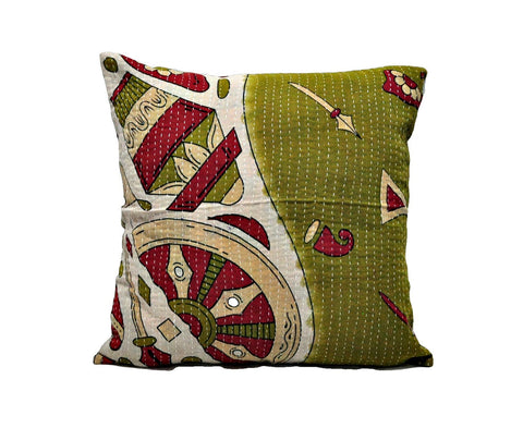24X24 Dining Chair Kantha Cushions Bohemian Kantha Throw Pillows NL30-Jaipur Handloom