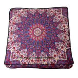 Bohemian Mandala Square Floor Cushion Cute Indian Outdoor Seating Pouf Cover-Jaipur Handloom