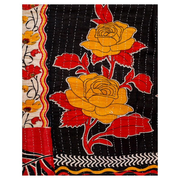 Fair Trade Kantha Throw Buy Online Hand Stitched Kantha Baby Blanket-Jaipur Handloom