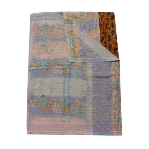fair trade kantha throw indian kantha blanket - D93-Jaipur Handloom