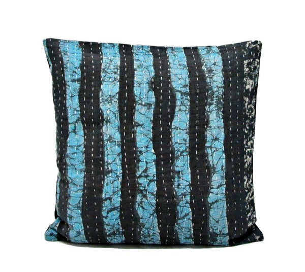 floral kantha cushion cover bohemian outdoor furniture pillow covers - C18-Jaipur Handloom