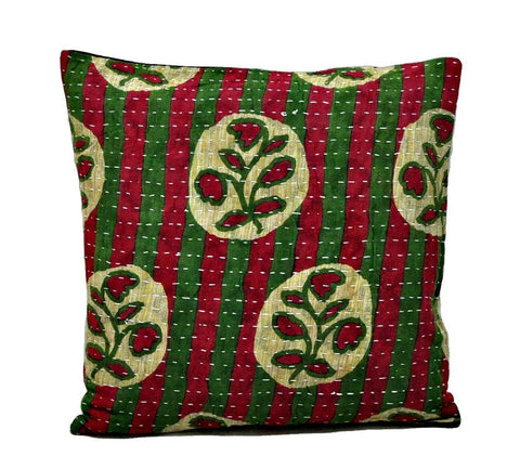 handmade pillow covers indian kantha cushions dining chair pillows - NS83-Jaipur Handloom