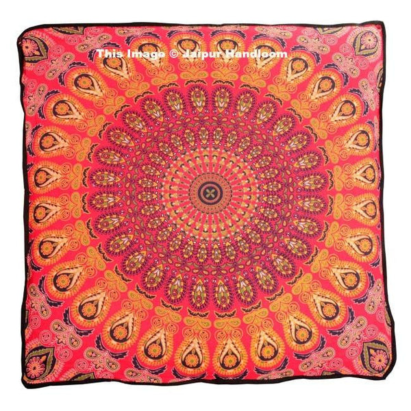 Indian Dog Bed Cushion Cover Boho Dog Bedding Huge Mandala Tapestry Floor Pillow-Jaipur Handloom