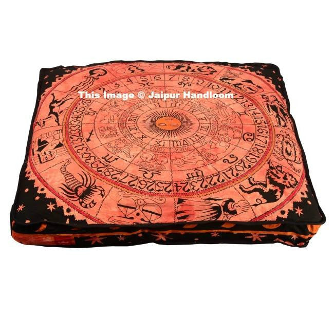 indian horoscope mediation floor pillows boho astrology floor cushions