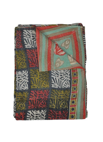 Indian Kantha throw on sale Buy Fair Trade Kantha Throw Blankets-Jaipur Handloom