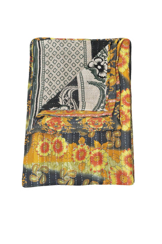 indian kantha throw twin kantha bedding bohemian kantha blanket RSG69-Jaipur Handloom