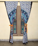 indian mandala curtains bohemian window decor pelmets 2 panel curtains-Jaipur Handloom