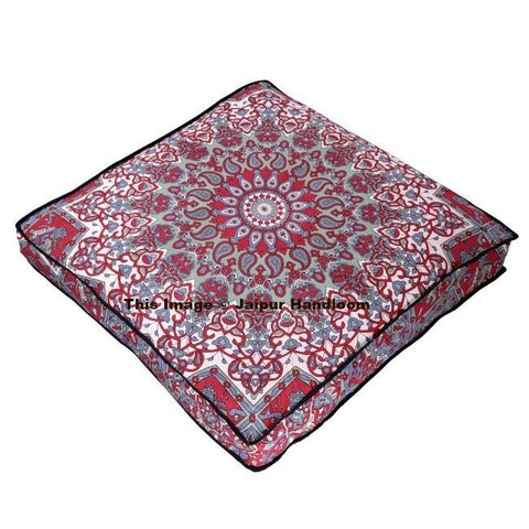 indian mandala dorm room floor cushions bohemian tapestry pout ottoman-Jaipur Handloom