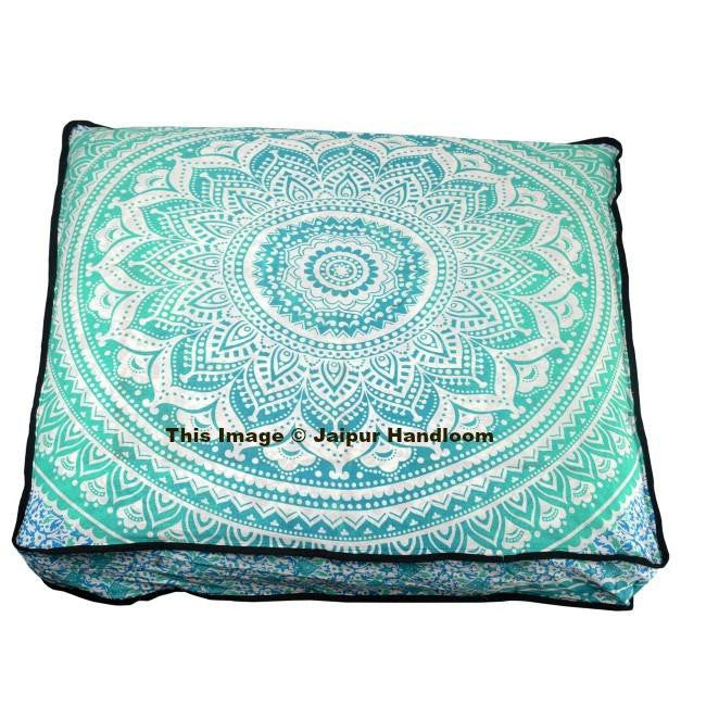 Indian Square Mandala Pillows Ombre Floor Cushion Covers 35\