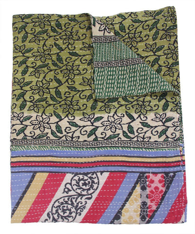 Indian Style Organic Kantha Bedspread Bohemian Kantha Throws For Sofa-Jaipur Handloom