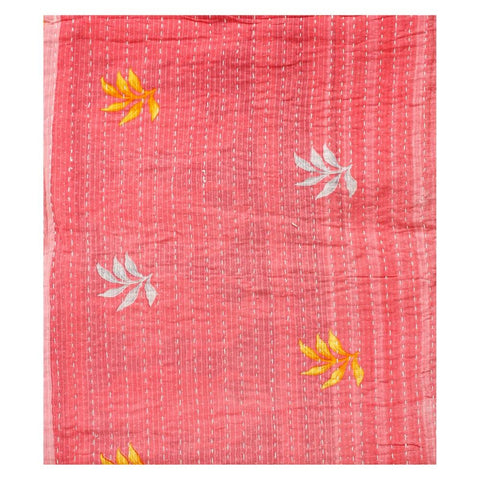 large indian kantha throw bohemian cotton sari kantha blanket gudri - AS46-Jaipur Handloom