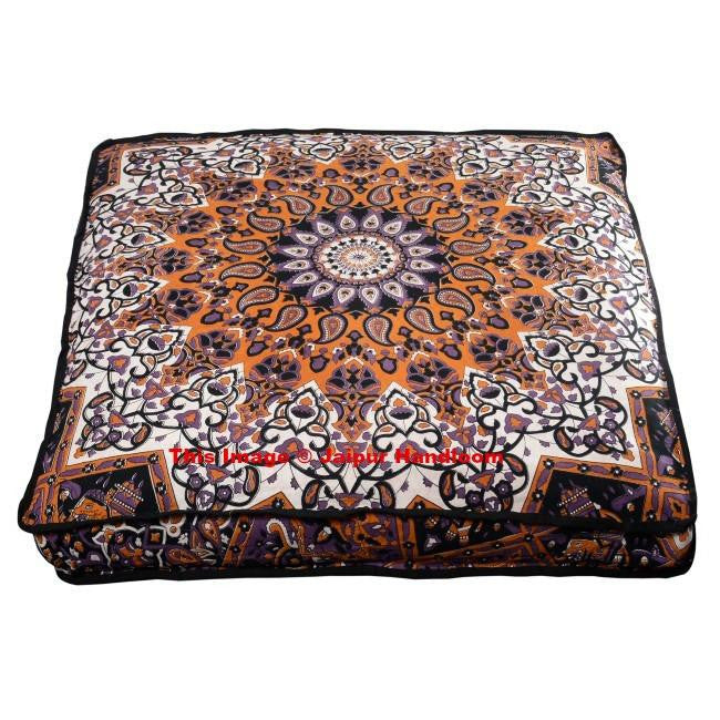 Psychedelic Mandala Yoga Floor Cushions Indian Bohemian Floor Pillows