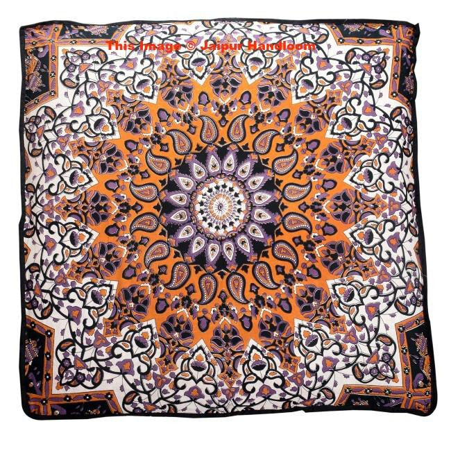 floor cushions. Psychedelic Mandala Yoga Floor Cushions Indian Bohemian Pillows Bean Bag-Jaipur Handloom C