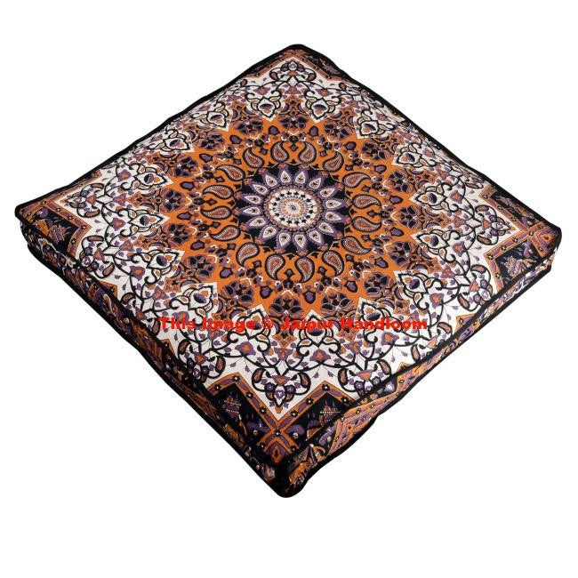 Psychedelic Mandala Yoga Floor Cushions Indian Bohemian Floor Pillows Bean Bag