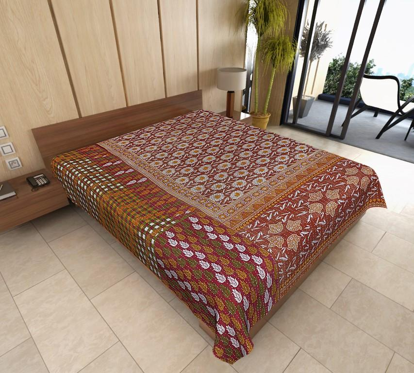 Amazing Vintage Kantha Baby Quilt Baby Blanket Handmade Baby Shower Gift Bohemian Bedding Throws Cotton Quilt Rug Room Decor