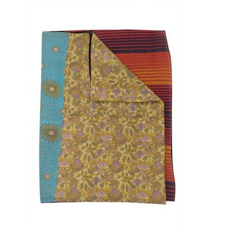 Vintage Kantha Throw Indian Handmade Kantha Quilt Bedspread-Jaipur Handloom