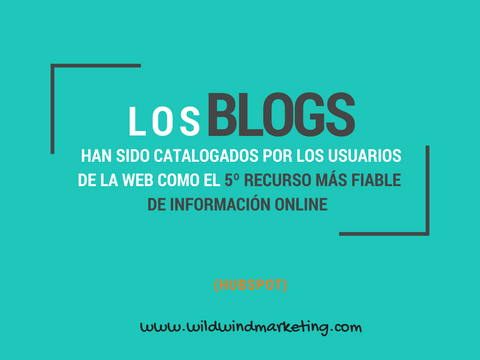 Los blogs son un recurso fiable de información
